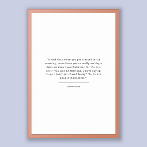 Demetri Martin Quote, Demetri Martin Poster, Demetri Martin Print, Printable Poster, I think that when you get dressed in the morning, so...