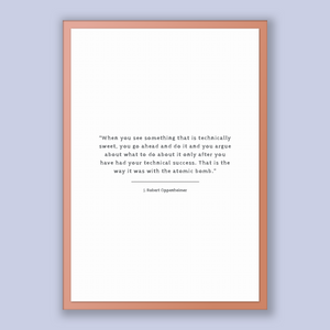 J. Robert Oppenheimer Quote, J. Robert Oppenheimer Poster, J. Robert Oppenheimer Print, Printable Poster, When you see something that is ...