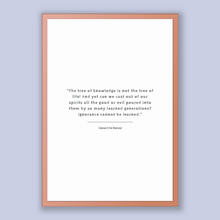 Load image into Gallery viewer, Gerard De Nerval Quote, Gerard De Nerval Poster, Gerard De Nerval Print, Printable Poster, The tree of knowledge is not the tree of life!...