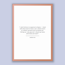 Load image into Gallery viewer, Jonathan Davis Quote, Jonathan Davis Poster, Jonathan Davis Print, Printable Poster, I don't believe in organized religion - I dealt with...