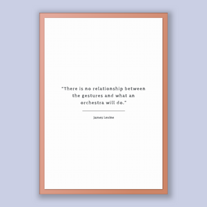James Levine Quote, James Levine Poster, James Levine Print, Printable Poster, There is no relationship between the gestures and what an ...
