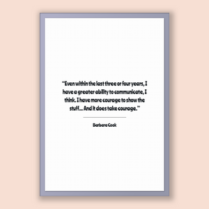 Barbara Cook Quote, Barbara Cook Poster, Barbara Cook Print, Printable Poster, Even within the last three or four years, I have a greater...