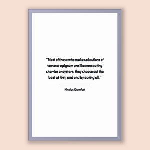 Nicolas Chamfort Quote, Nicolas Chamfort Poster, Nicolas Chamfort Print, Printable Poster, Most of those who make collections of verse or...