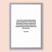 Load image into Gallery viewer, Donna Shalala Quote, Donna Shalala Poster, Donna Shalala Print, Printable Poster, You can't have a university without having free speech,...