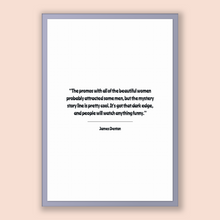 Load image into Gallery viewer, James Denton Quote, James Denton Poster, James Denton Print, Printable Poster, The promos with all of the beautiful women probably attrac...