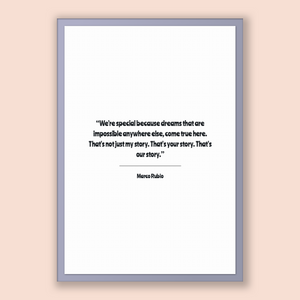 Marco Rubio Quote, Marco Rubio Poster, Marco Rubio Print, Printable Poster, We're special because dreams that are impossible anywhere els...