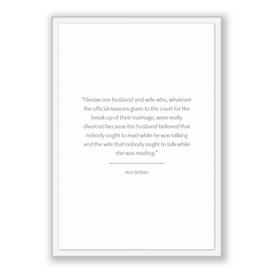 Vera Brittain Quote, Vera Brittain Poster, Vera Brittain Print, Printable Poster, I know one husband and wife who, whatever the official ...