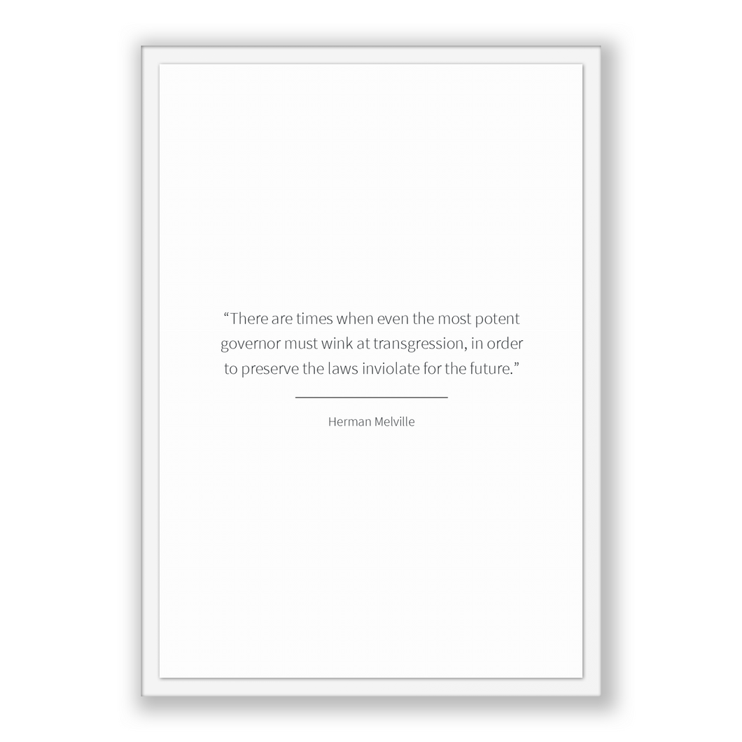 Herman Melville Quote, Herman Melville Poster, Herman Melville Print, Printable Poster, There are times when even the most potent governo...