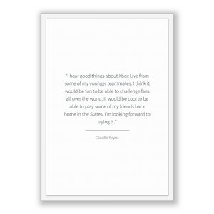 Claudio Reyna Quote, Claudio Reyna Poster, Claudio Reyna Print, Printable Poster, I hear good things about Xbox Live from some of my youn...