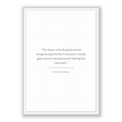 Thomas A. Edison Quote, Thomas A. Edison Poster, Thomas A. Edison Print, Printable Poster, The reason a lot of people do not recognize op...