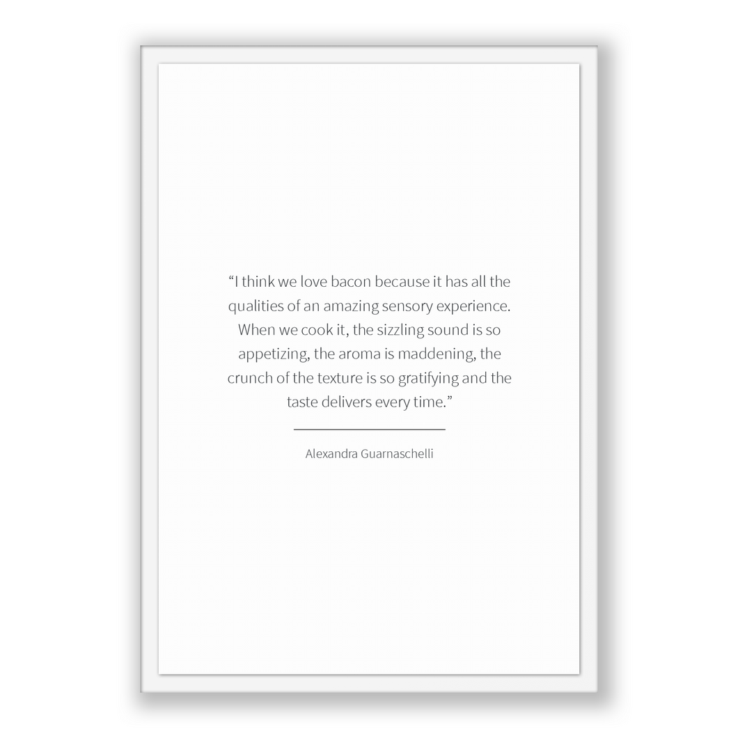 Alexandra Guarnaschelli Quote, Alexandra Guarnaschelli Poster, Alexandra Guarnaschelli Print, Printable Poster, I think we love bacon bec...