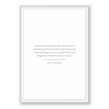 Load image into Gallery viewer, Booker T. Washington Quote, Booker T. Washington Poster, Booker T. Washington Print, Printable Poster, Success in life is founded upon at...