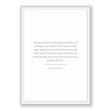 Load image into Gallery viewer, Tommy Lee Jones Quote, Tommy Lee Jones Poster, Tommy Lee Jones Print, Printable Poster, My idea in terms of managing a narrative, or in t...