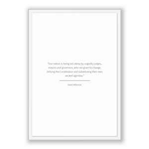 David Wilkerson Quote, David Wilkerson Poster, David Wilkerson Print, Printable Poster, Our nation is being led astray by ungodly judges,...
