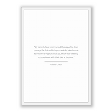 Load image into Gallery viewer, Chelsea Clinton Quote, Chelsea Clinton Poster, Chelsea Clinton Print, Printable Poster, My parents have been incredibly supportive from p...