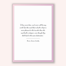 Load image into Gallery viewer, Marion Zimmer Bradley Quote, Marion Zimmer Bradley Poster, Marion Zimmer Bradley Print, Printable Poster, It has never been, and never wi...