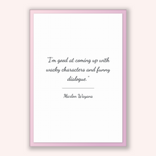Load image into Gallery viewer, Marlon Wayans Quote, Marlon Wayans Poster, Marlon Wayans Print, Printable Poster, I'm good at coming up with wacky characters and funny d...
