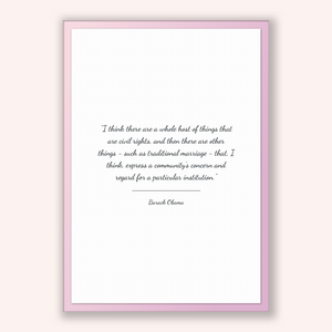 Barack Obama Quote, Barack Obama Poster, Barack Obama Print, Printable Poster, I think there are a whole host of things that are civil ri...