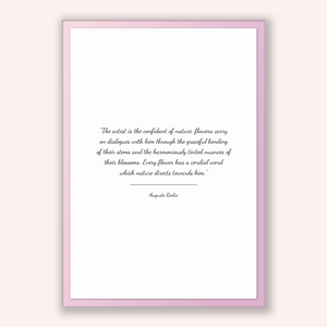 Auguste Rodin Quote, Auguste Rodin Poster, Auguste Rodin Print, Printable Poster, The artist is the confidant of nature, flowers carry on...
