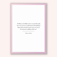 Load image into Gallery viewer, Catharine Beecher Quote, Catharine Beecher Poster, Catharine Beecher Print, Printable Poster, As liberty and intelligence have increased ...