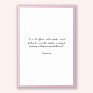 Goran Persson Quote, Goran Persson Poster, Goran Persson Print, Printable Poster, Let our New Year's resolution be this: we will be there...
