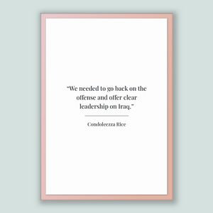 Condoleezza Rice Quote, Condoleezza Rice Poster, Condoleezza Rice Print, Printable Poster, We needed to go back on the offense and offer ...