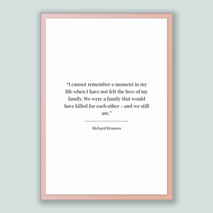 Richard Branson Quote, Richard Branson Poster, Richard Branson Print, Printable Poster, I cannot remember a moment in my life when I have...