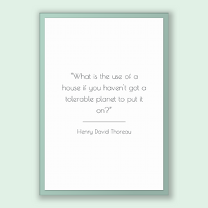 Henry David Thoreau Quote, Henry David Thoreau Poster, Henry David Thoreau Print, Printable Poster, What is the use of a house if you hav...