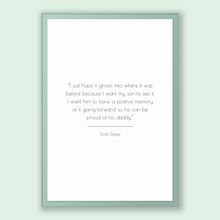 Load image into Gallery viewer, Scott Stapp Quote, Scott Stapp Poster, Scott Stapp Print, Printable Poster, I just hope it grows into where it was before because I want ...