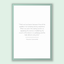 Load image into Gallery viewer, Alexandra Guarnaschelli Quote, Alexandra Guarnaschelli Poster, Alexandra Guarnaschelli Print, Printable Poster, I think we love bacon bec...