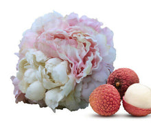 Load image into Gallery viewer, Lychee & Peony - Matte White & Rose Gold Tear Drop Jar