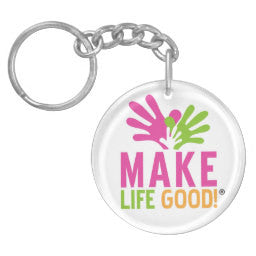 Make Life Good Key Acrylic Chain