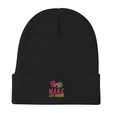 Make Life Good Logo Knit Beanie