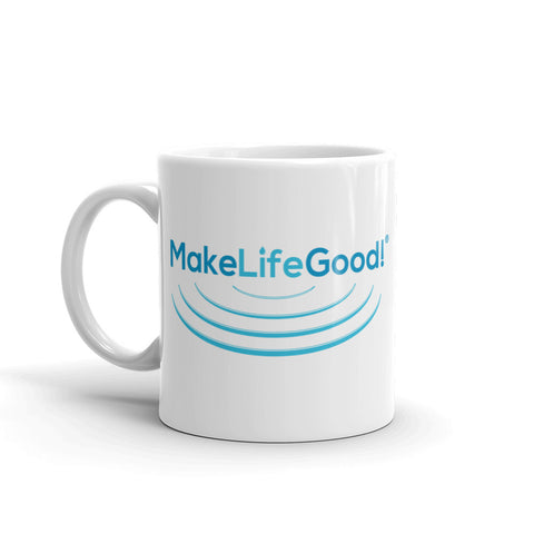 Make Life Good Ripples Graphic Ceramic Coffee Mug