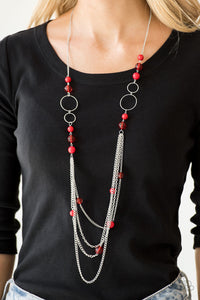 Bubbly Bright - Red Paparazzi Jewelry