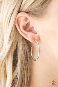 HOOP, Line, and Sinker - Silver Paparazzi Jewelry