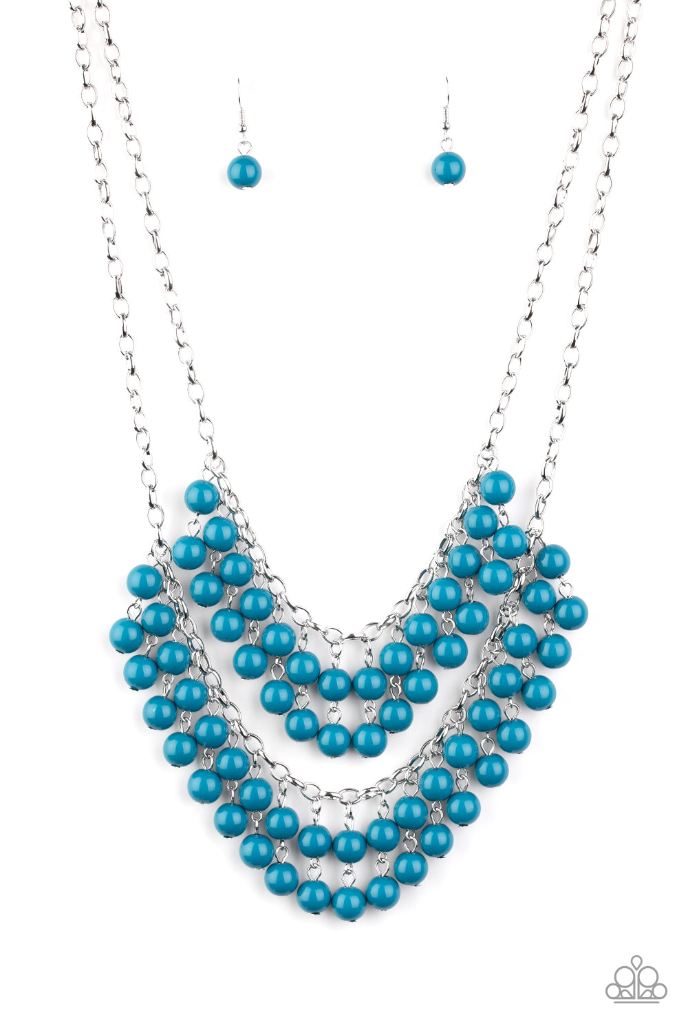 Bubbly Boardwalk - Blue Paparazzi Jewelry