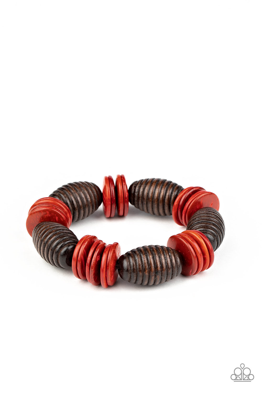 Caribbean Castaway - Red Paparazzi Jewelry