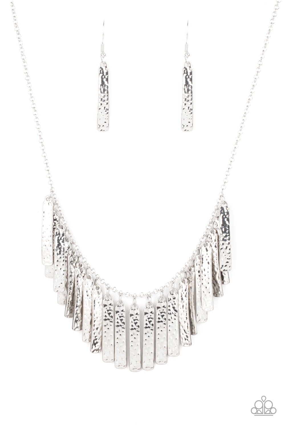 Metallic Muse - Silver Paparazzi Jewelry