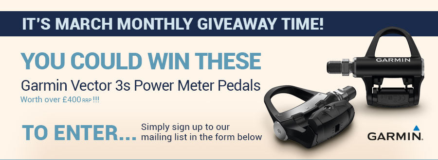 Win a pair of Garmin Vector 3 Power Meter pedals