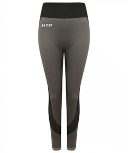 Women's Blue Contrast Seam Leggings - Hydra Tech Pro