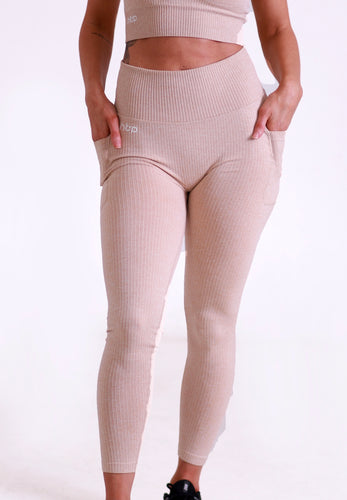 Women's Nude  Seam Leggings - Hydra Tech Pro