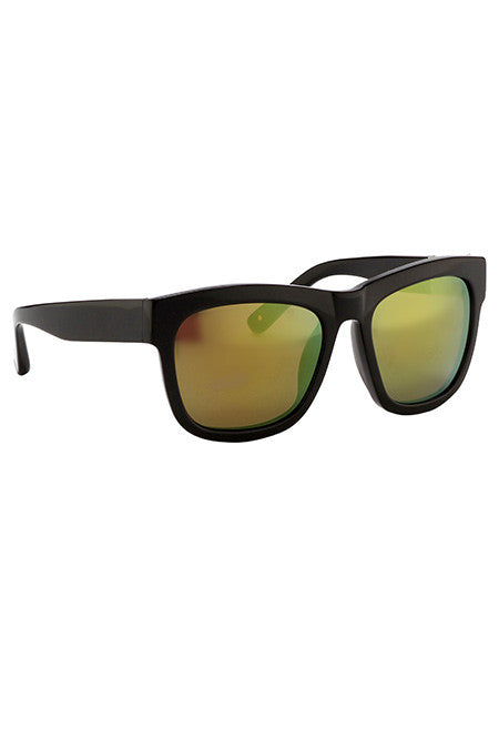3.1 Phillip Lim Black Sunglasses with Multichrome Yellow Lenses - Cloak and Dagger NYC