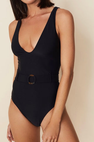 FAITHFULL THE BRAND DELHI ONE PIECE, BLACK