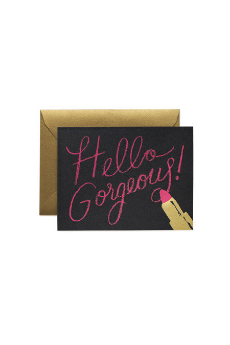 Rifle Paper Co. Hello Gorgeous Card - Cloak and Dagger NYC