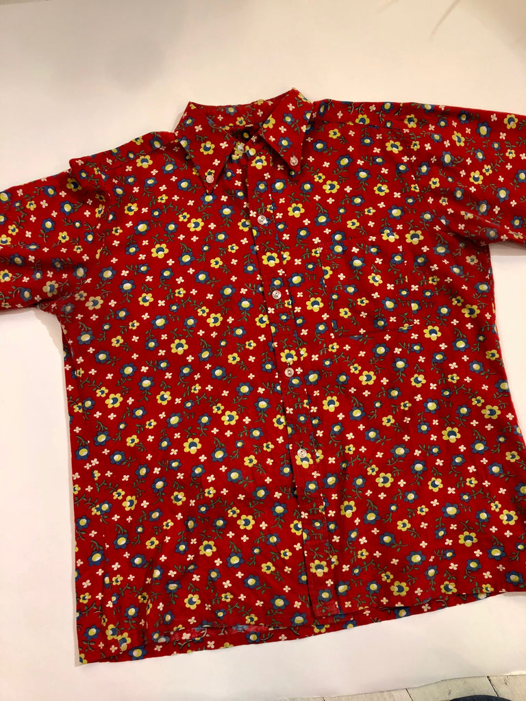 VINTAGE 70S FLORAL BUTTON UP