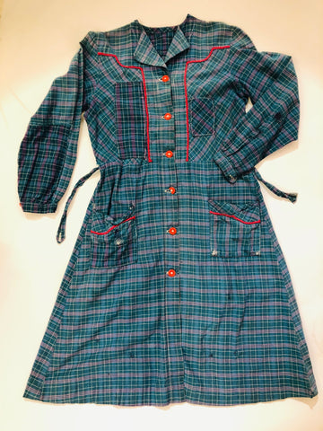 VINTAGE PLAID PATCHWORK DRESS