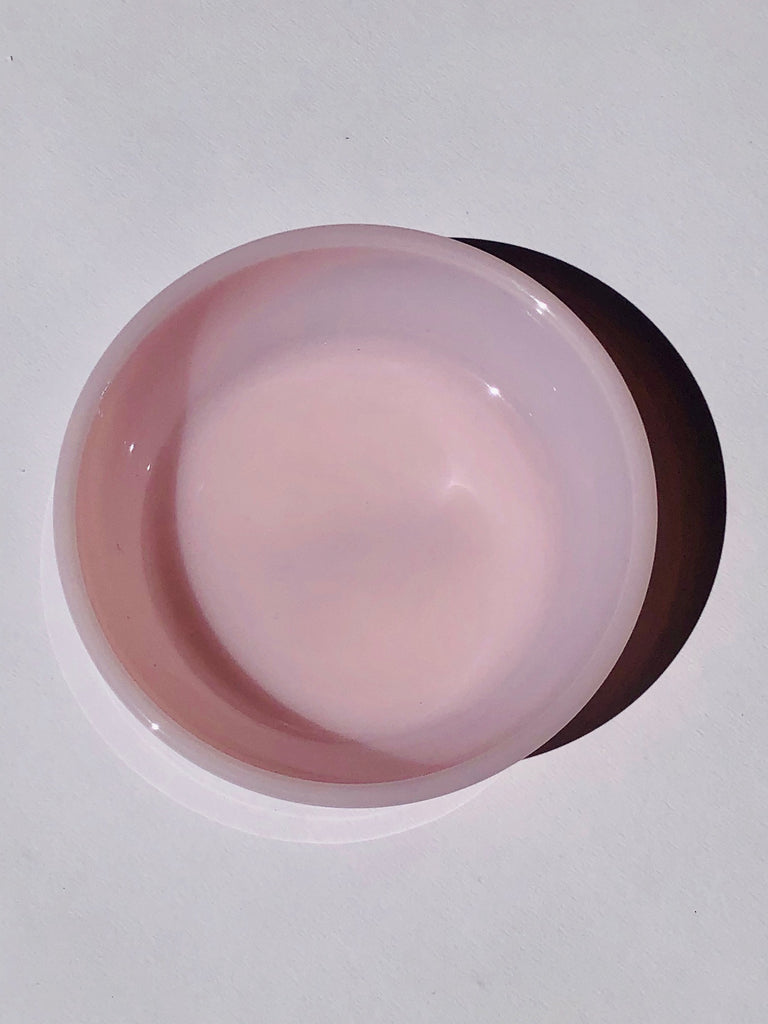 "MOSSER PINK 4.5"" MILK GLASS BOWL"