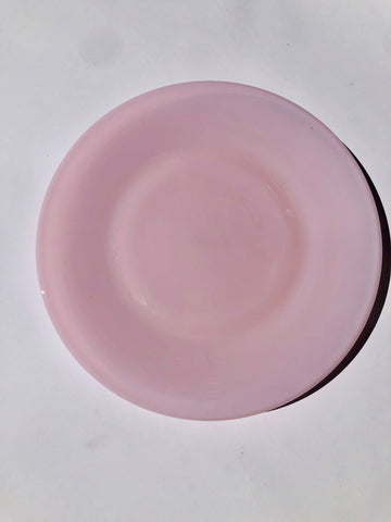 "MOSSER PINK 10"" MILK GLASS PLATE"
