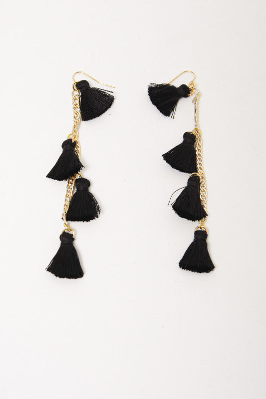 VANESSA MOONEY THE DYNASTY EARRINGS BLACK